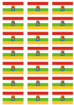 La Rioja Flag Stickers - 21 per sheet